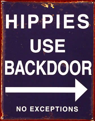 no hippies