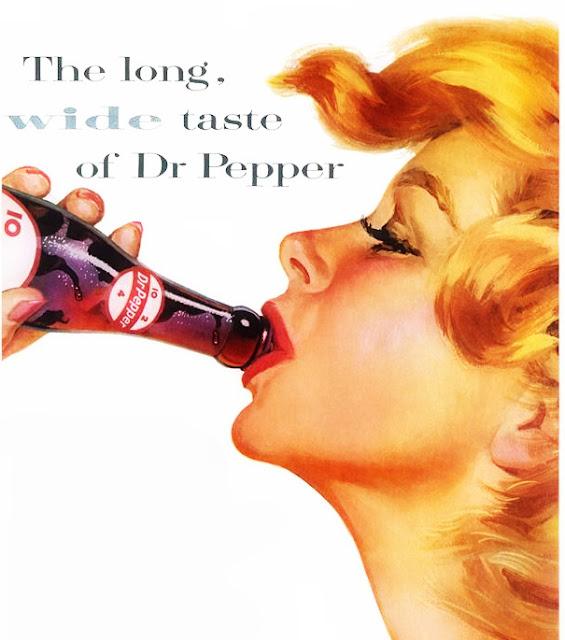 The long w i d e taste of Dr.Pepper