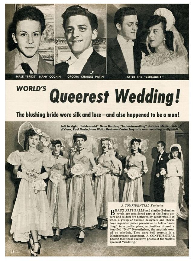 1940s Gay weddingshocker