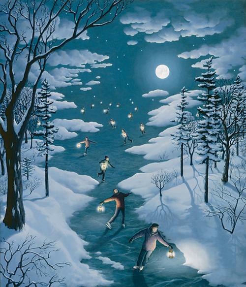 Skating on a moonlitnight
