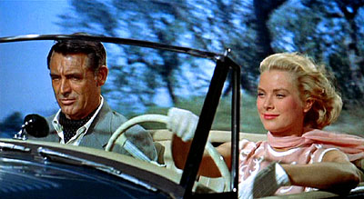 "Grace Kelly and Cary Grant going for a little ride in the hills above Monte Carlo in ""To Catch a Thief"""