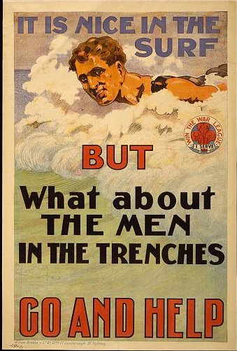 Get off your duff, WWI Recruitment Poster