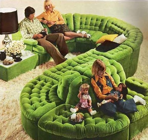 Wild 1970s sectional couch matthew 39 s island of misfit toys for 70s living room furniture