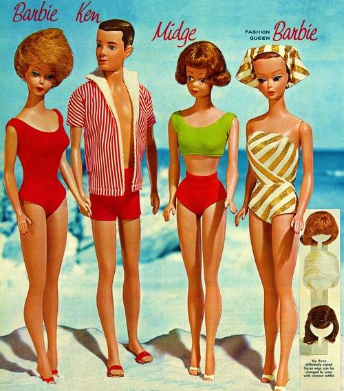Barbie, Ken, and Midge1962