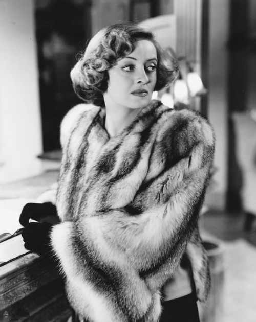 Bette Davis in fur