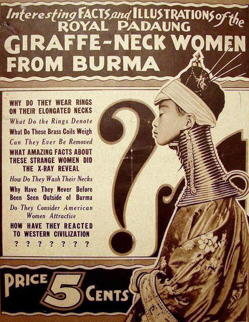 Giraffe-neck women fromBurma
