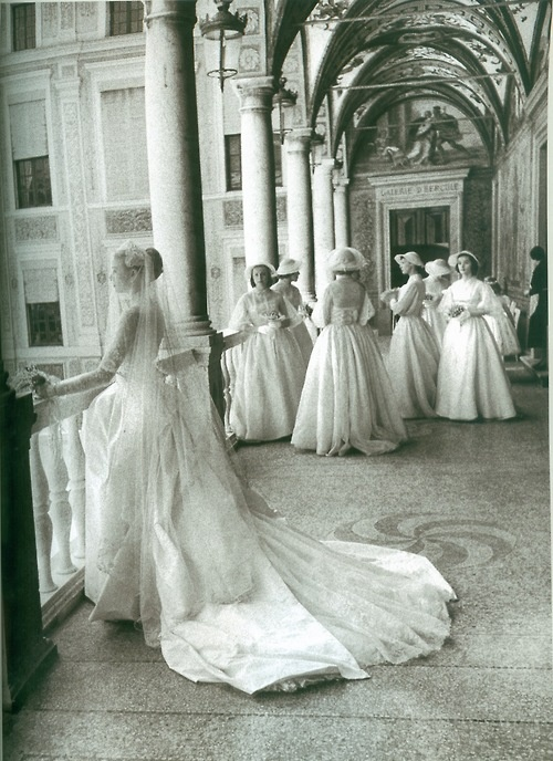 Wedding Day, Grace Kelly and Prince Rainier of Monaco, 1950s