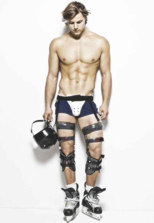 Stripped down hockey player