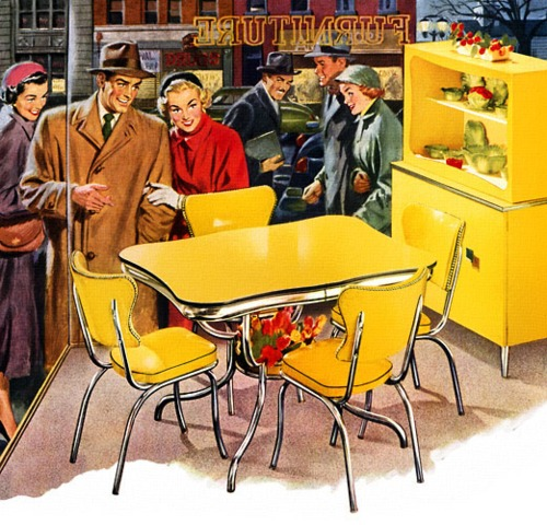 Furniture shopping, 1940's