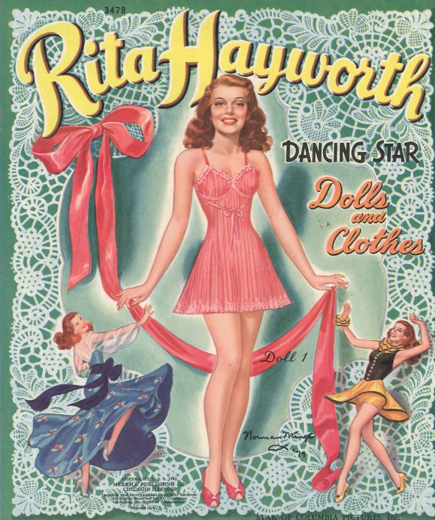 Rita Hayworth Paper Dolls, 1940s