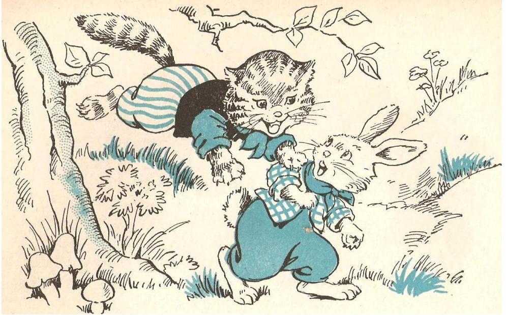 Kitty attacking abunny