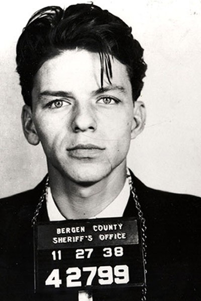 A young Frank Sinatra's mugshot, 1938. Arrested in New Jersey for adultery!