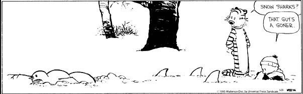 Calvin & Hobbes: SnowSharks