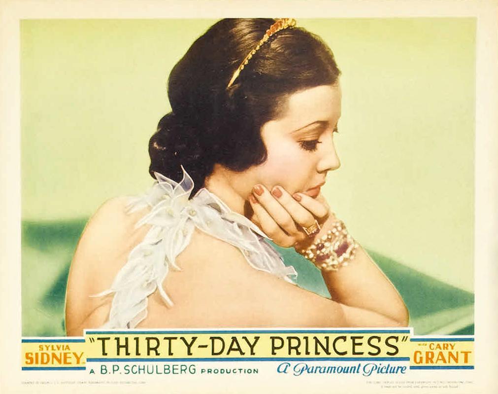 """""""Thirty Day Princess"""", starring Sylvia Sidney and CaryGrant"""