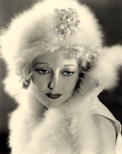 Thelma Todd in fur