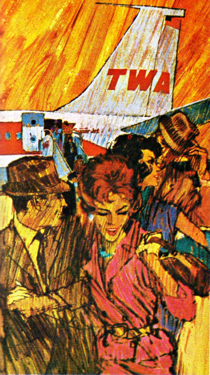 TWA advertisement from the 1960s