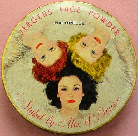 Face powder tin,1940s