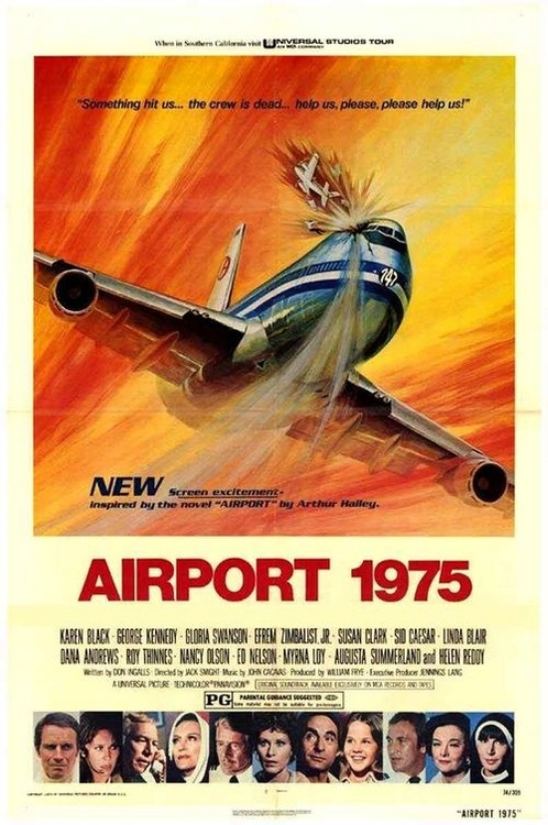 Airport 1975 – which included Gloria Swanson and Myrna Loy in very lateroles