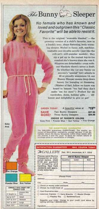 "The Bunny Sleeper: No female who has known and loved and outgrown this ""Classic Favorite"" will be able to resist it!"