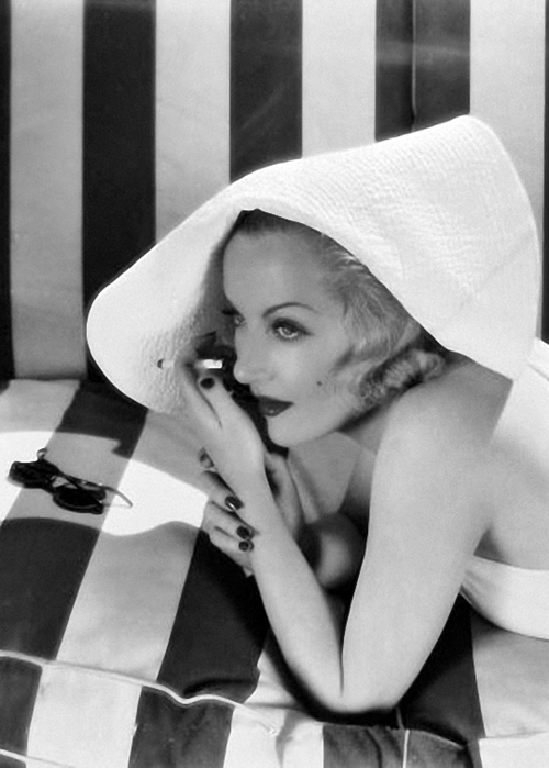 Carole Lombard, showing a little shoulder