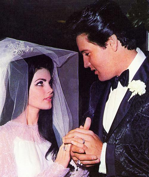 Elvis and Priscilla Presley on their wedding day | Matthew ...