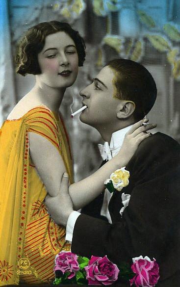 French romance postcard