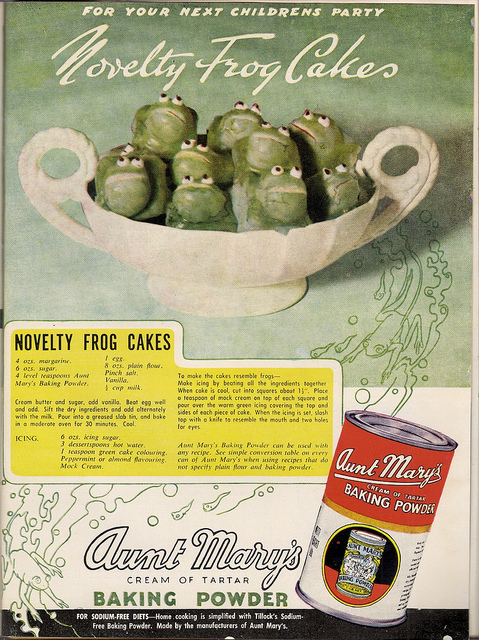 Novelty Frog Cakes, 1930s