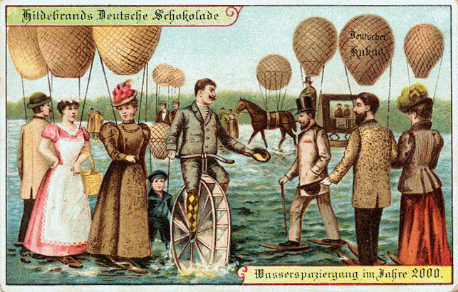 German prediction of people walking on water in the year 2000, from circa 1900