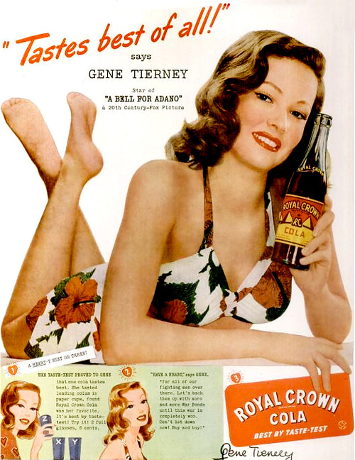 GENE TIERNEY FOR RC COLA