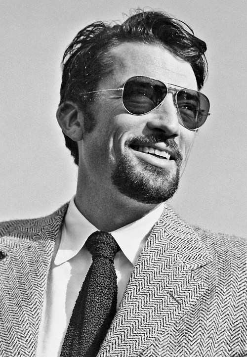 Gregory Peck, with facial hair, 1948