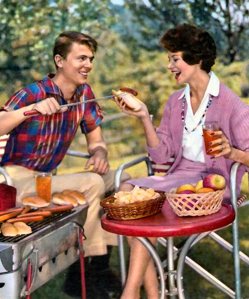 1950s wienie roast