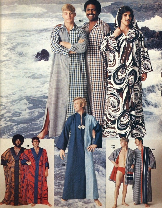 Kaftans for men, 1970s