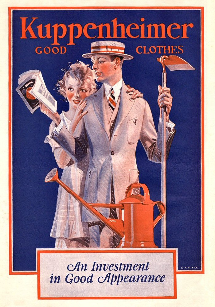 An investment in good appearance (Leyendecker for Kuppenheimer)