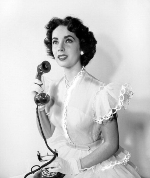 Elizabeth Taylor on thephone