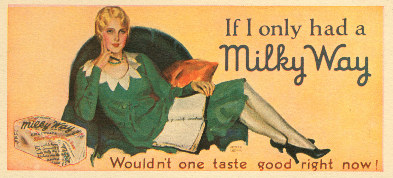 Milky Way ad, 1930