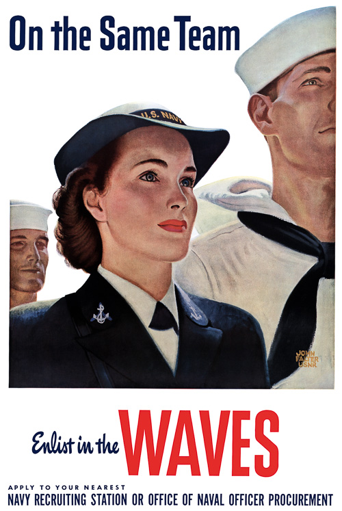 US Navy recruitment poster –WWII