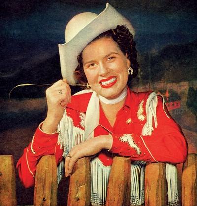 Patsy Cline, in westernwear
