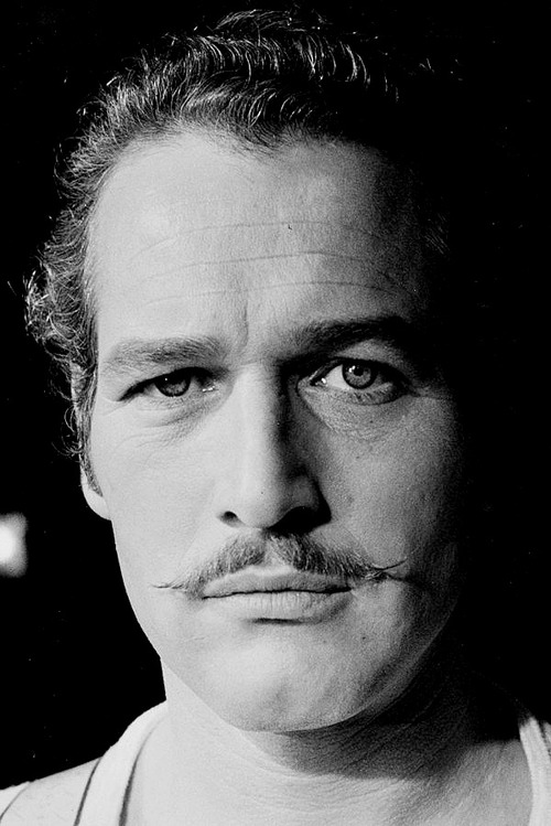 Paul Newman, with a stache