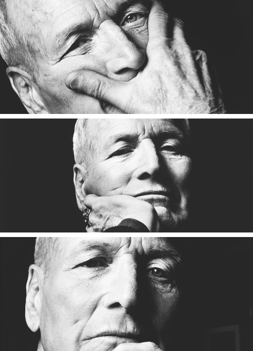 Paul Newman as an old man