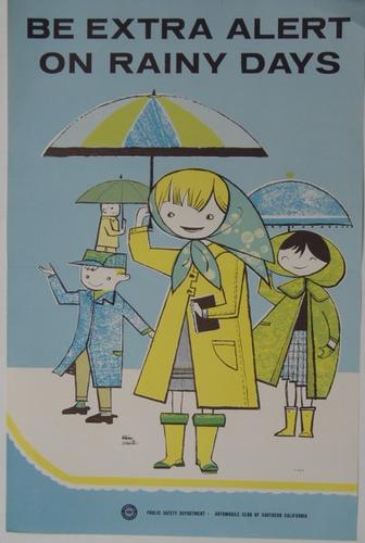 Be extra alert on rainydays