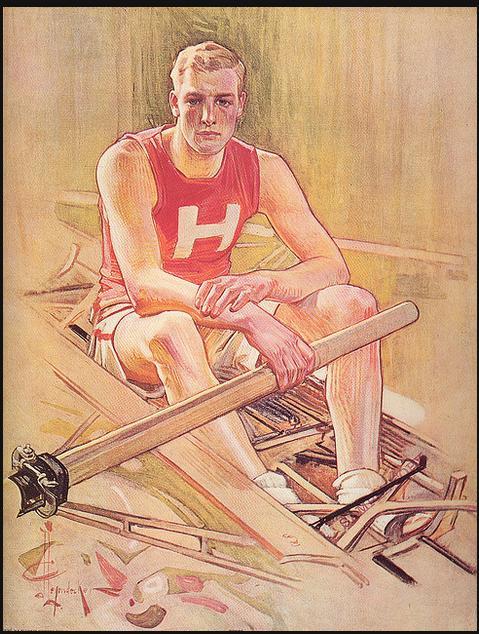 Rower, by Leyendecker