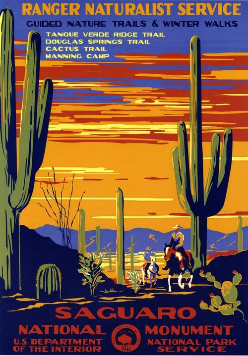Poster for Saguaro National Monument, 1930s