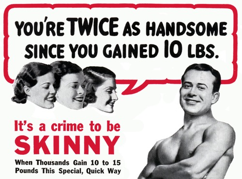 It's a crime to be skinny!