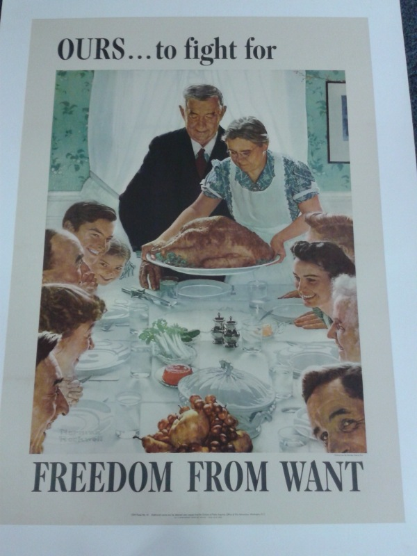 Freedom from want – US WWIIposter