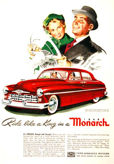 Ride like a king in a 1949Monarch