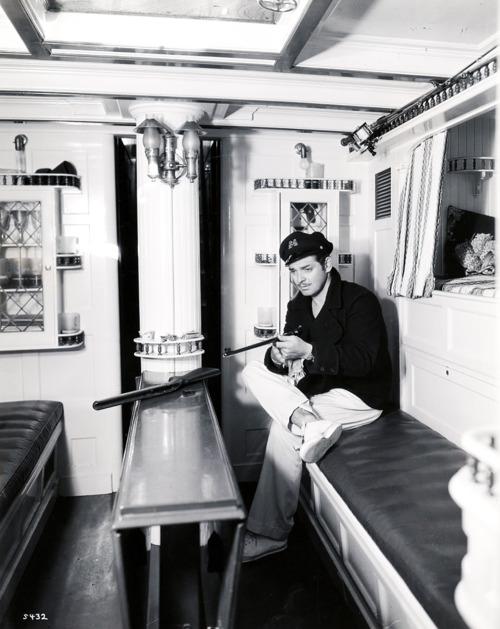 Clark Gable on aboat