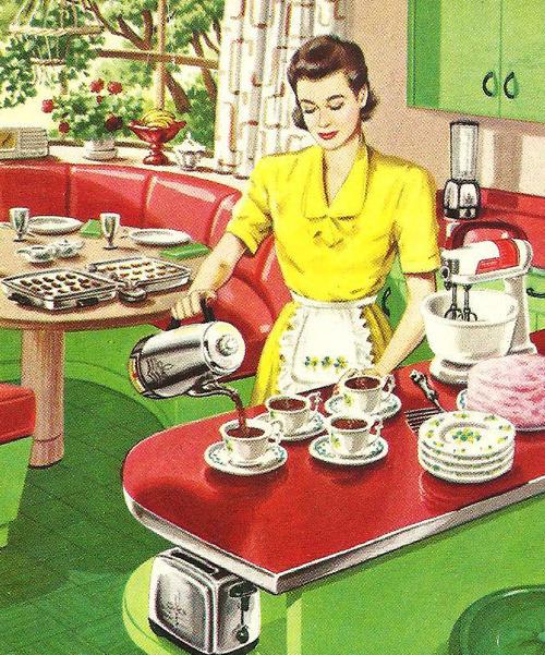 Coffee break, circa1940