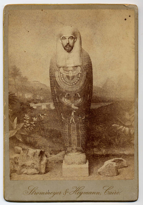 Old Egyptian themed cut outphoto