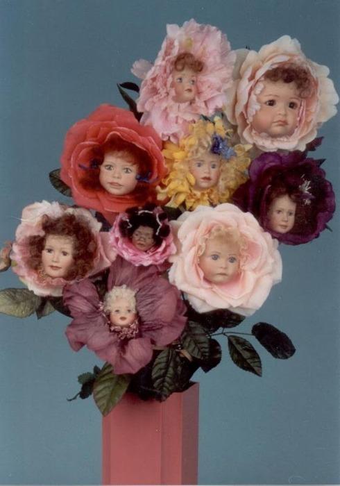 Creepy Doll HeadFlowers