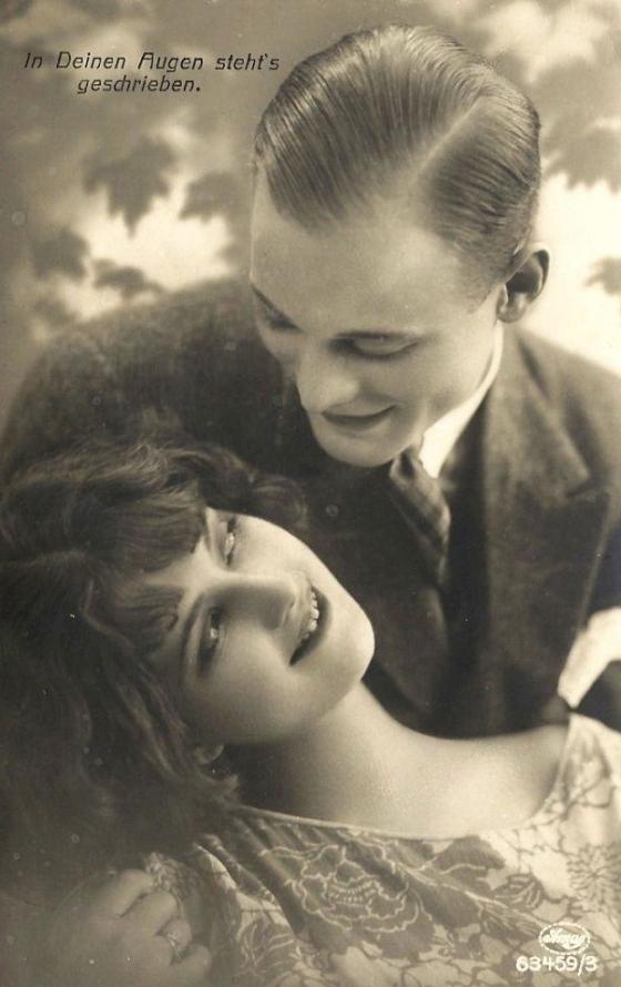 french romance postcard 410